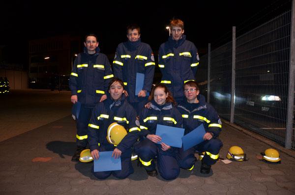 René, Björn, Marcel, Christian, Jenny und Martin.
