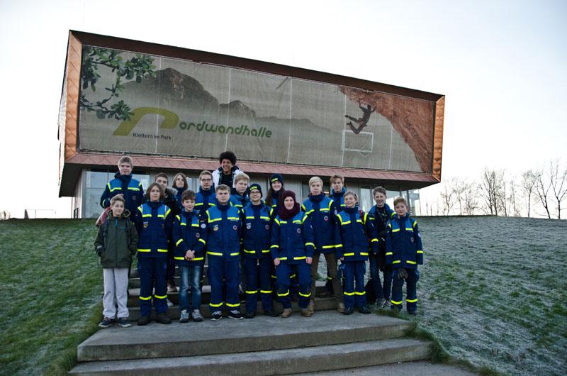 Die THW-Jugend Hamburg-Nord war zahlreich vertreten.