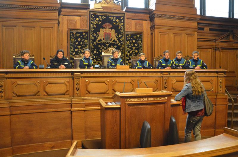 Der Plenarsaal dient den Sitzungen der Bürgerschaft.