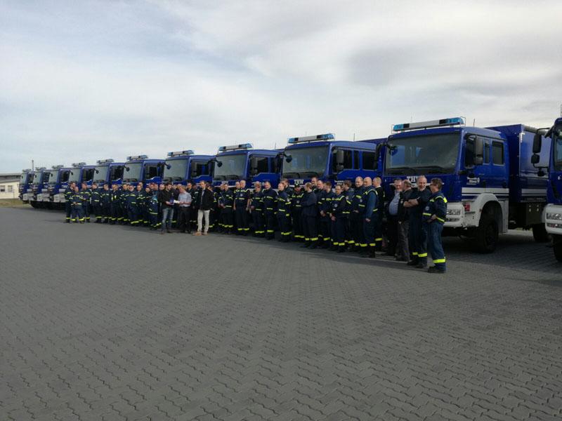 20 Fahrzeuge wurden übergeben.