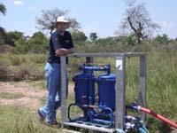 Mit Hilfe der Berkefeld-Anlage haben die THW-Helfer insgesamt über 1,3 Million Liter Trinkwasser bereitgestellt.