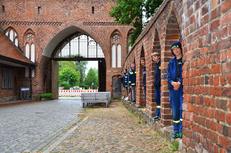 Stadtbesichtigung in Neubrandenburg.