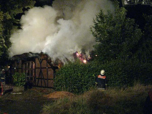 Das Haus brannte in voller Ausdehnung.