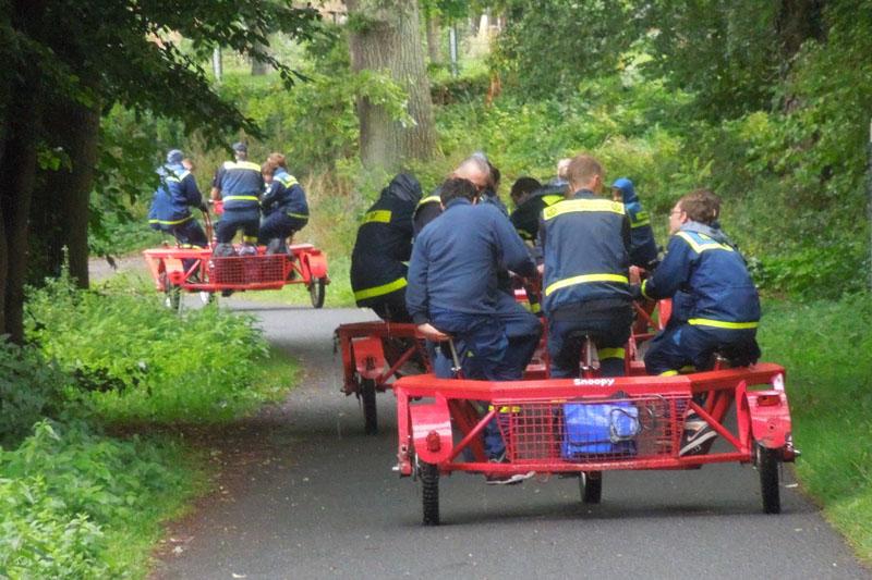 Auf dem 6teambike wurde durch den Fredeburger Wald getrampelt.