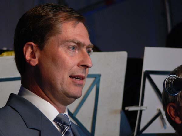 Landesbeauftragter Dierk Hansen bei Eröffnungsrede.