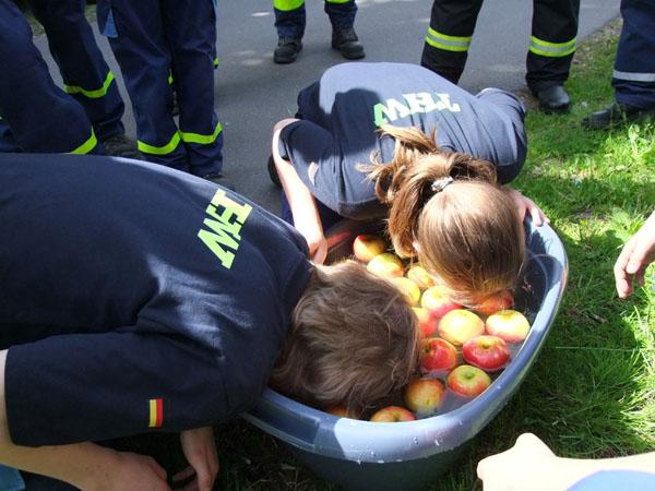 Eine Aufgabe beim Feuerwehrmarsch.