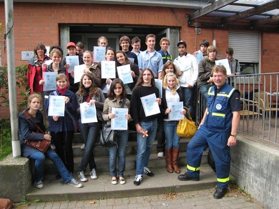 Schülerinnen und Schüler der Klasse 10b des Gymnasiums Eppendorf.