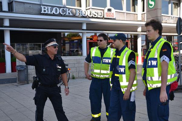 Die Verkehrssicherung erfolgte in Abstimmung mit der Polizei.