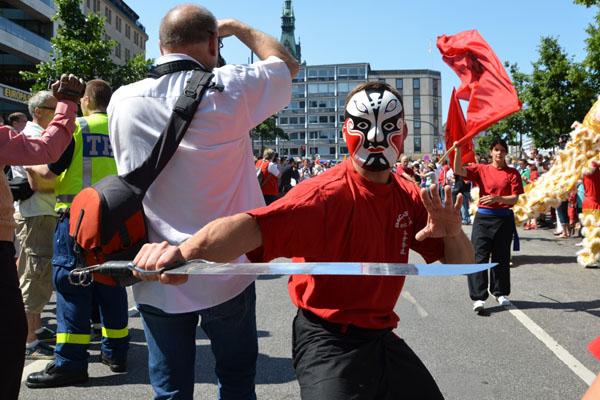 Die Parade war teils bunt, teils schrill, aber immer sehenswert.