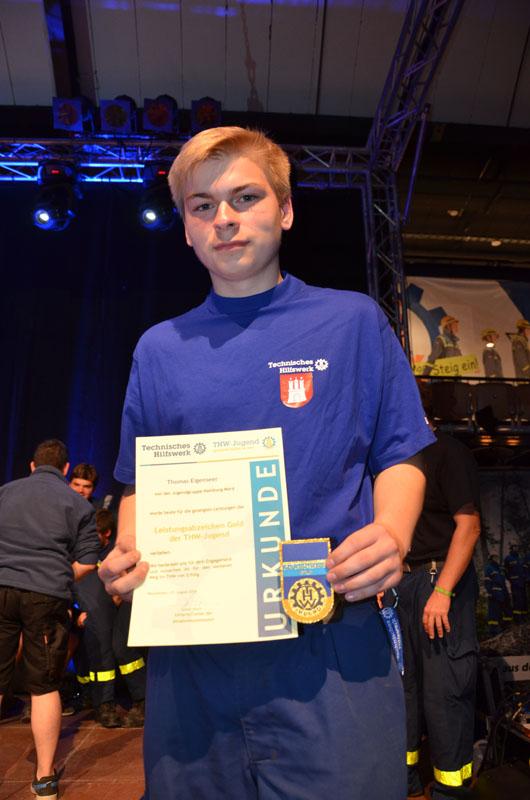 Aus unserer Jugendgruppe nahm Thomas Eigenseer an der Stufe Gold teil.