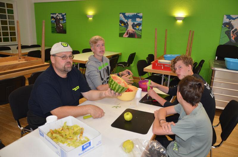 """Der Workshop """"Kochen mit Kids"""" war nur einer der Workshops, an denen wir teilnahmen."""