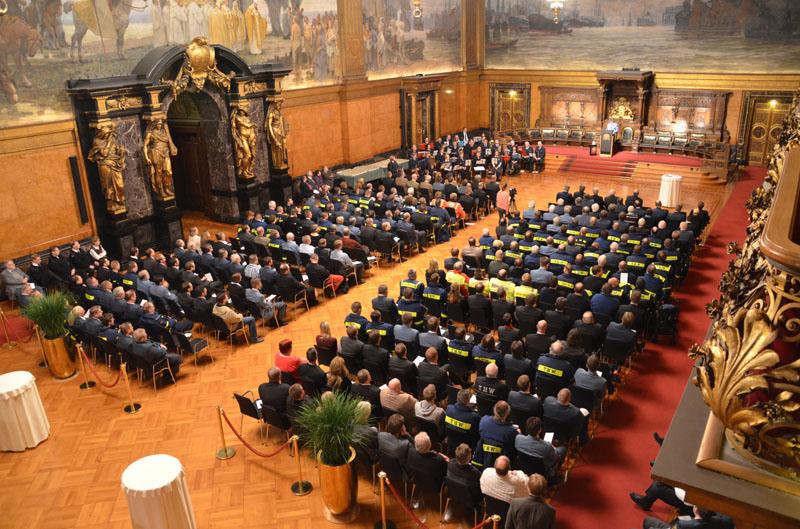 Senatsempfang im Großen Festsaal des Hamburger Rathauses.
