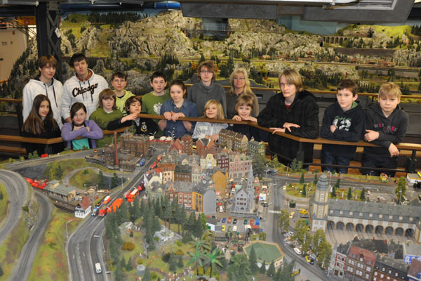 Unsere Jugendgruppe im Miniatur Wunderland.