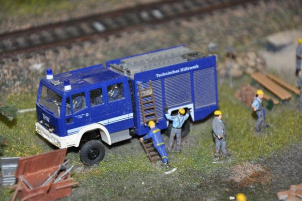 Auch das THW ist im Miniatur Wunderland im Einsatz.