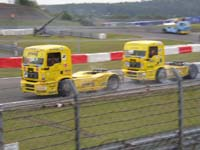 Über 1000 PS starke MAN Trucks des Race Teams des Österreichers Egon Allgäuer