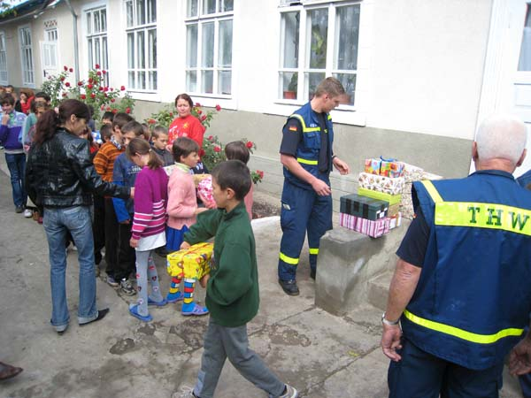 Besuch des Kinderheims in Calarasi.