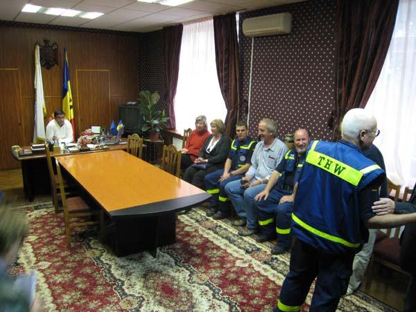 Empfang des Bürgermeisters von Hincesti.