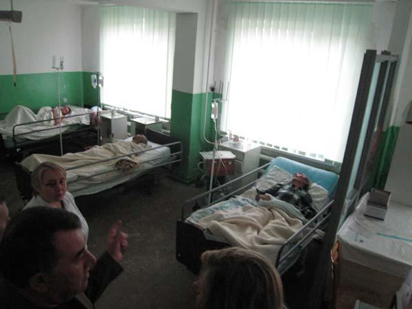 Die Intensivstation. im Krankenhauses von Hincesti.