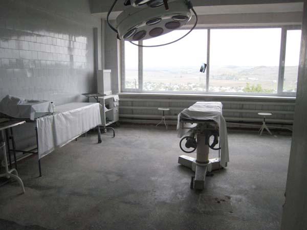 Der Operationssaal im Krankenhauses von Hincesti.