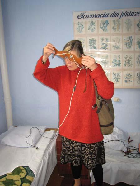 Auch für den Kopf gibt es hier Elektroden.
