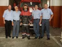 Besichtigung der örtlichen Feuerwehrwache.