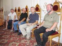 Im Gästesaal des Klosters Hîncu.