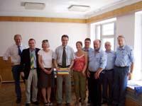 Bei Vitalie Vrabie, dem Minister für öffentliche Verwaltung in der Hauptstadt Chisinau.