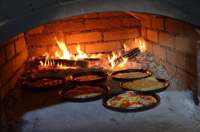 Pizzabacken.