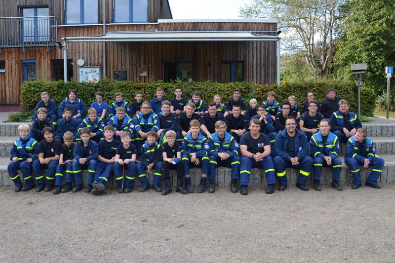 Rund 40 Junghelfer aus den Jugendgruppen Hamburg-Altona, -Bergedorf und -Nord nahmen am Ausflug teil.