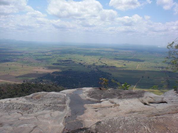 Blick vom Berg im Uzunga-Nationalpark.