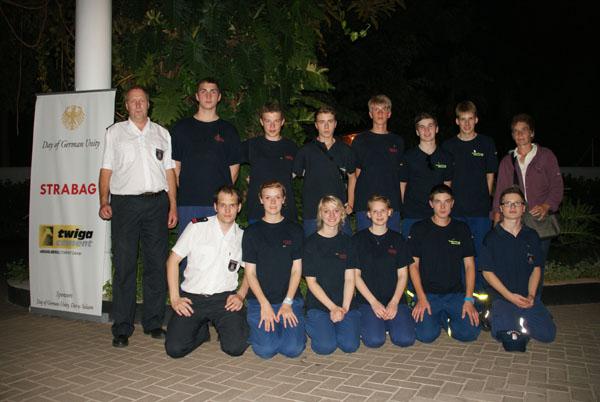 Gruppenfoto beim Deutschen Botschafter.
