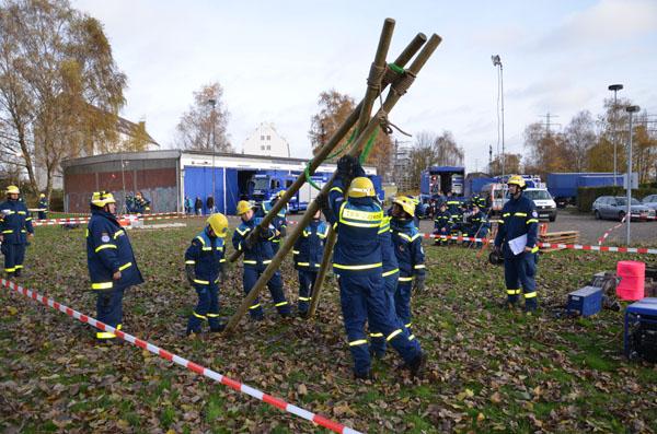 Wettkampfaufgabe 1: Bau einer Transportseilbahn.