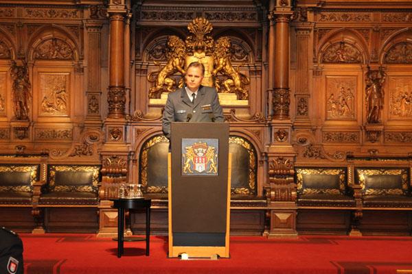 Eine besondere Ehre im großen Saal des Hamburger Rathauses sprechen zu dürfen.