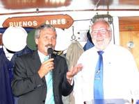 Innensenator Udo Nagel und Bernd Balzer bei der Begrüßungsansprache.