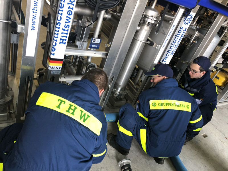 Die Trinkwasseraufbereitungsanlage besteht aus mehreren Komponenten die miteinander verbunden werden müssen.