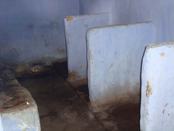 Die Toilette im Kinderheim von Rezina.