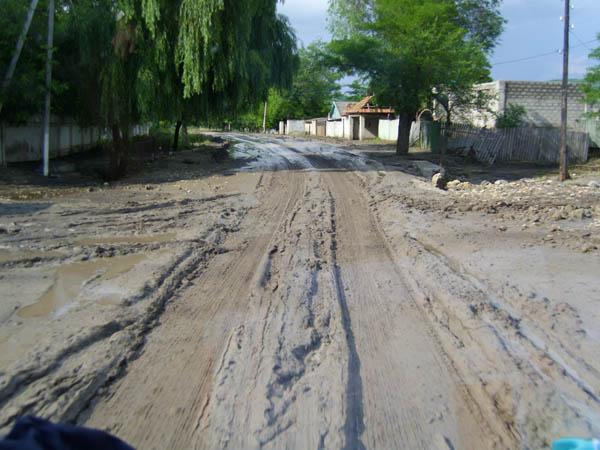 Straßen in ländlichen Regionen von Moldau.