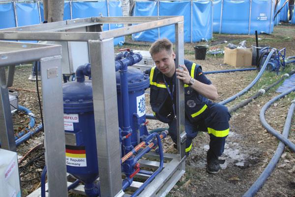 Trinkwasseraufbereitungsanlage.