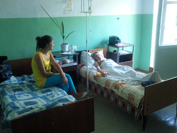 Patientenzimmer in Hincesti.