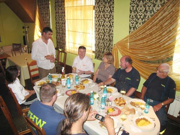 Mittagessen mit dem Bürgermeister von Hincesti.