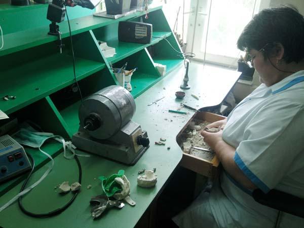 Das Zahntechniker-Labor.
