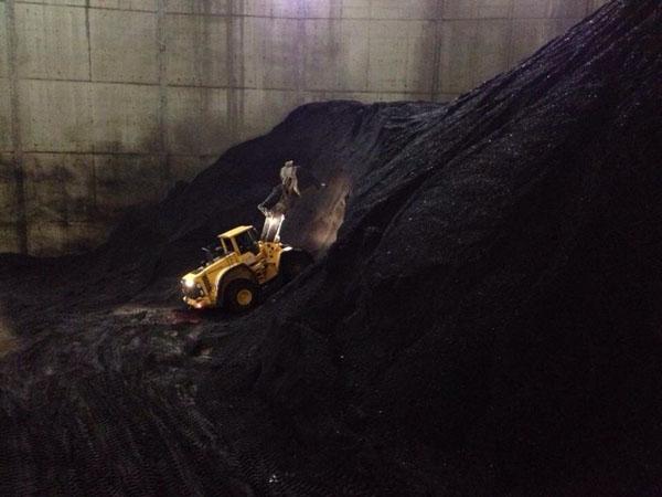 Mit 50.000 bis 70.000 Tonnen Kohle waren die Bunker noch nicht mal ganz gefüllt.