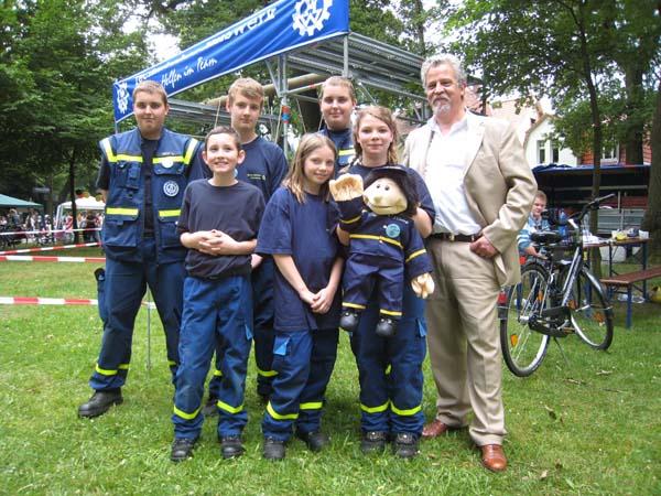 Auch Bezirksbürgermeister Mathias Frommann stattete unserer Jugendgruppe einen Besuch ab.