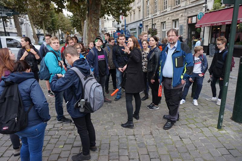 Mit der Stadtführerin wurde Brüssel erkundet.