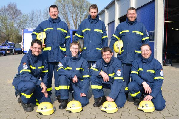 """Michael, Sven, Enrico, Alexander, Pascal, Enno und Sven, die """"Neuen"""" im Ortsverband Hamburg-Nord."""