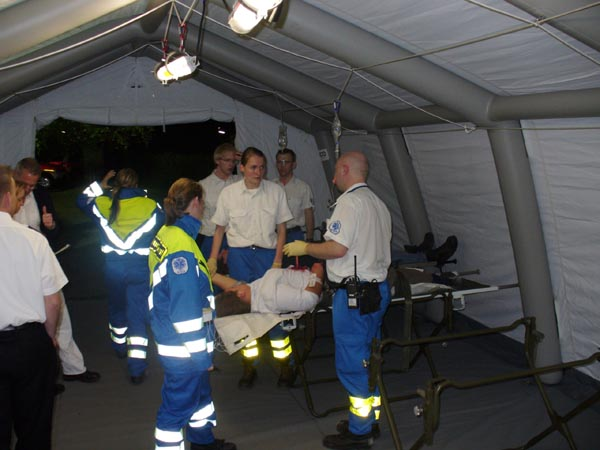 Verletztensammelstelle des KBA.
