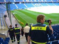 Das mobile Ö-Team besichtigt das Stadion